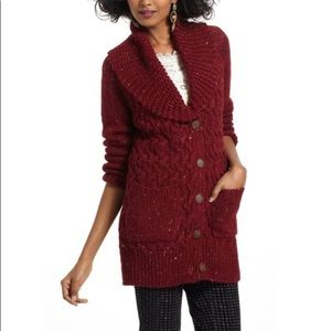 Anthro Isabella Sinclair Farfar Cardigan Sweater